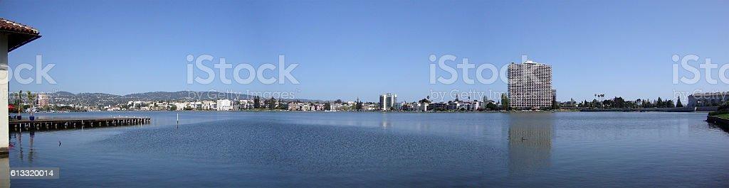 Lake Merritt Panoramic stock photo