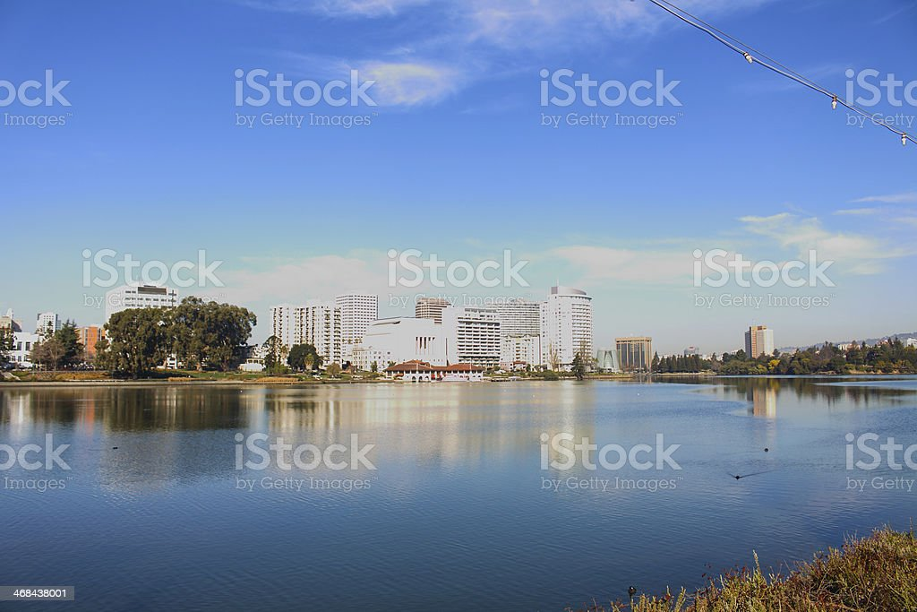Lake Merritt royalty-free stock photo