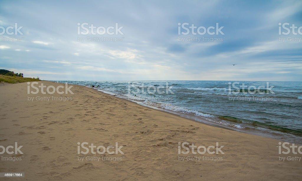 Lake Michigan Horizon stock photo
