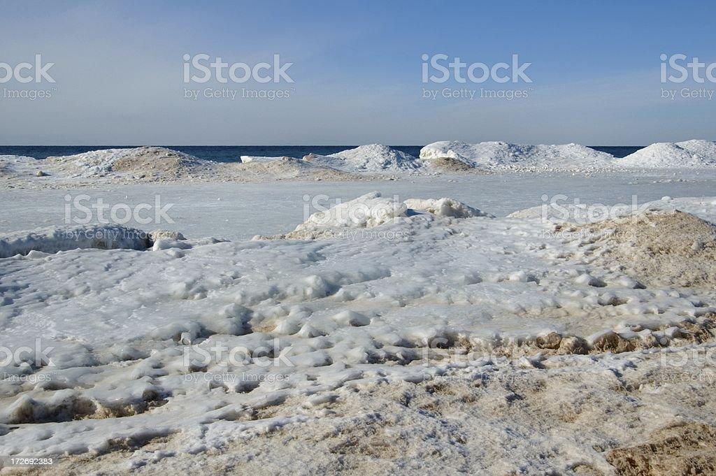 Lake Michigan Icecastles royalty-free stock photo