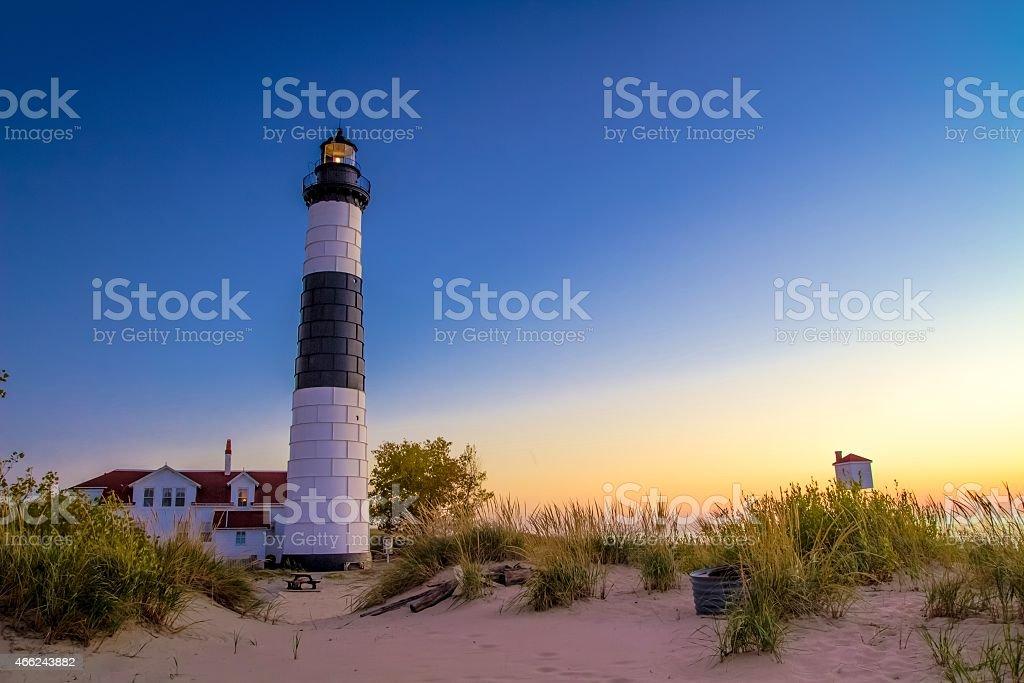 Lake Michigan Lighthouse stock photo