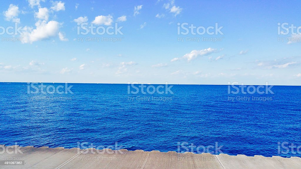 Lake Michigan on a Sunny Afternoon stock photo