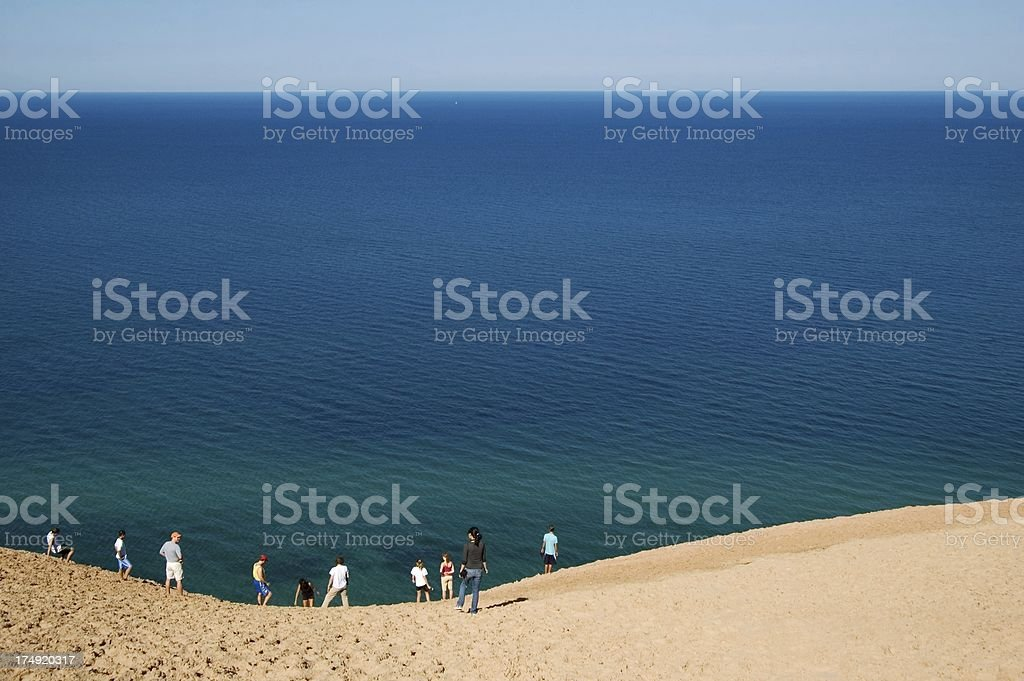Lake Michigan Overlook at Sleeping Bear Dunes royalty-free stock photo