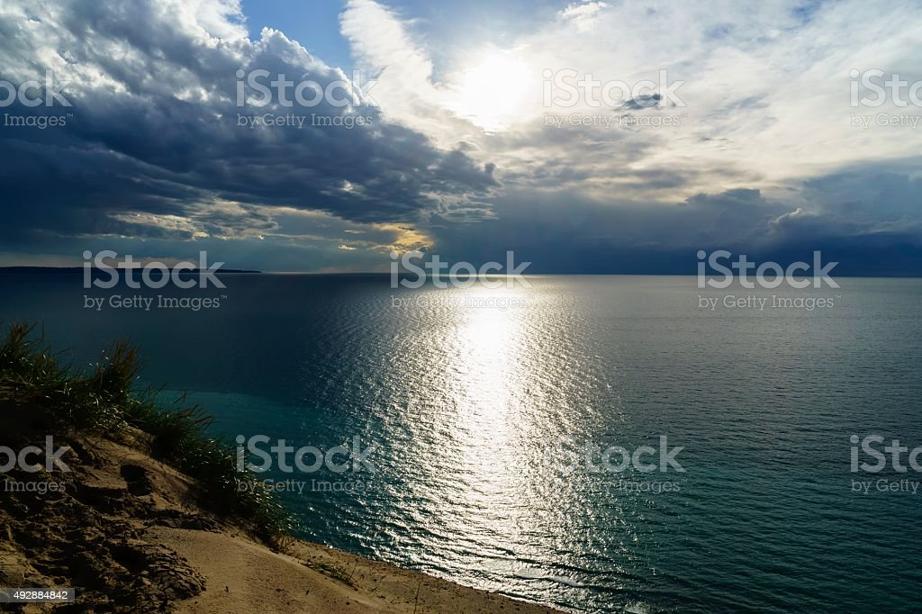 Lake Michigan Overlook stock photo