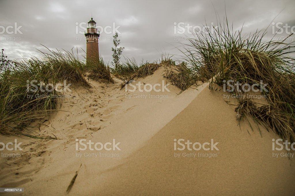 Lake Michigan Sand Dunes stock photo