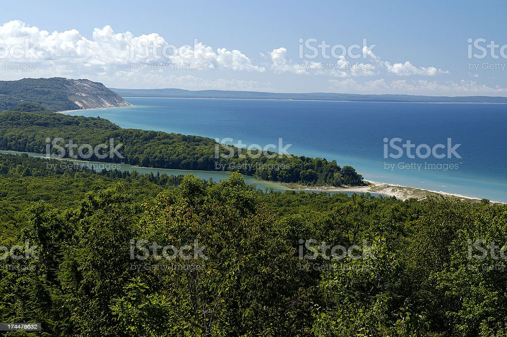 Lake Michigan shoreline royalty-free stock photo