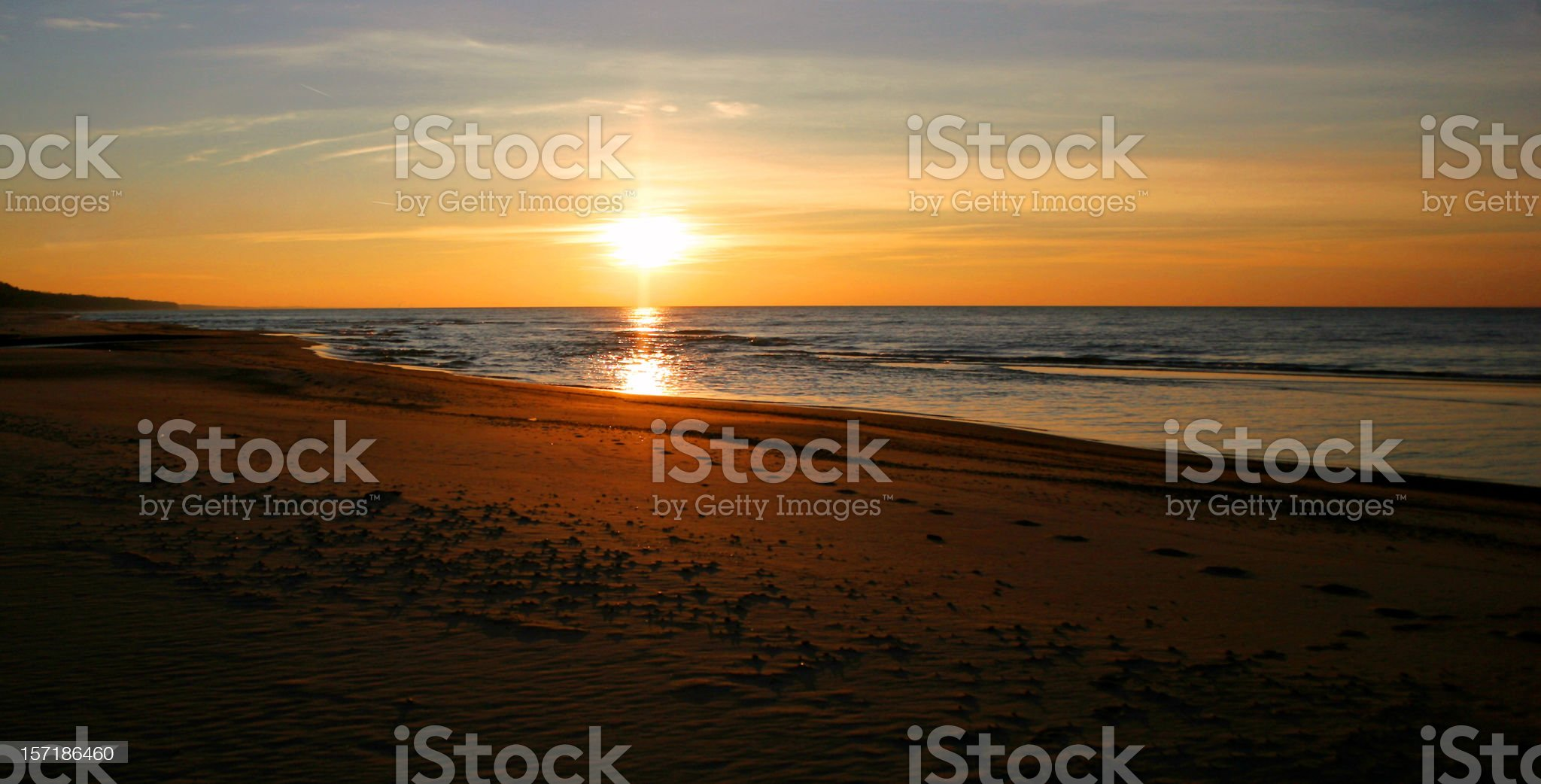 Lake Michigan Sunset royalty-free stock photo