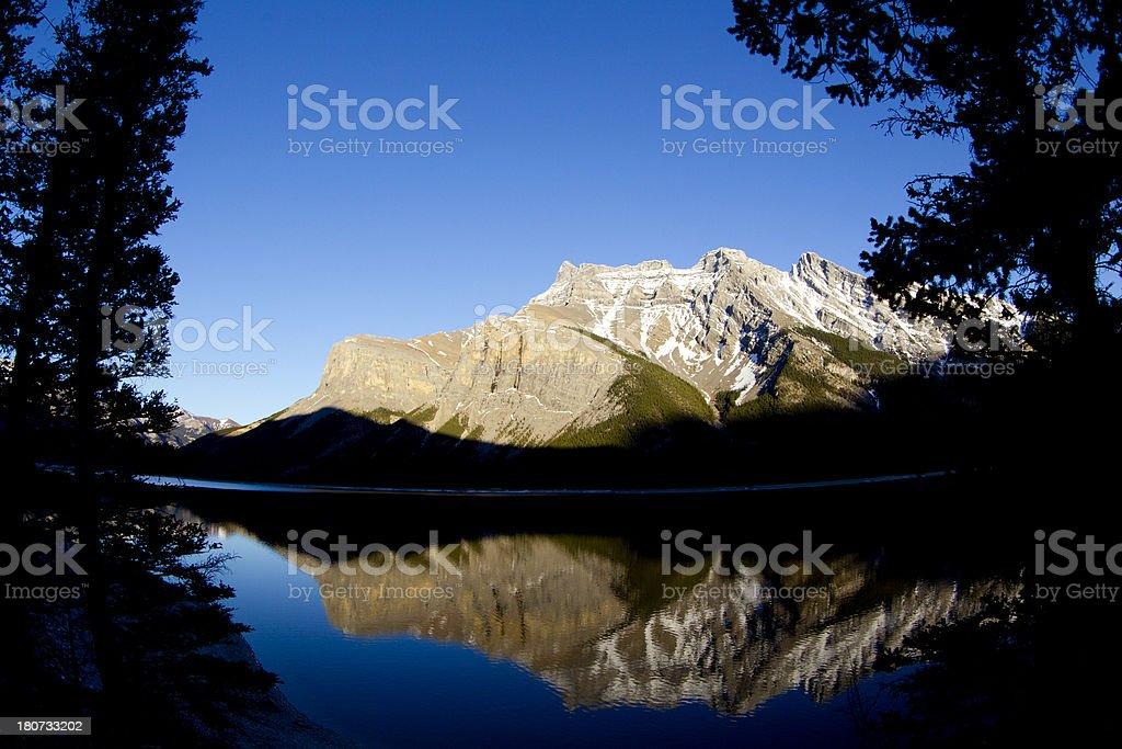 Lake Minnewanka in Banff National Park royalty-free stock photo