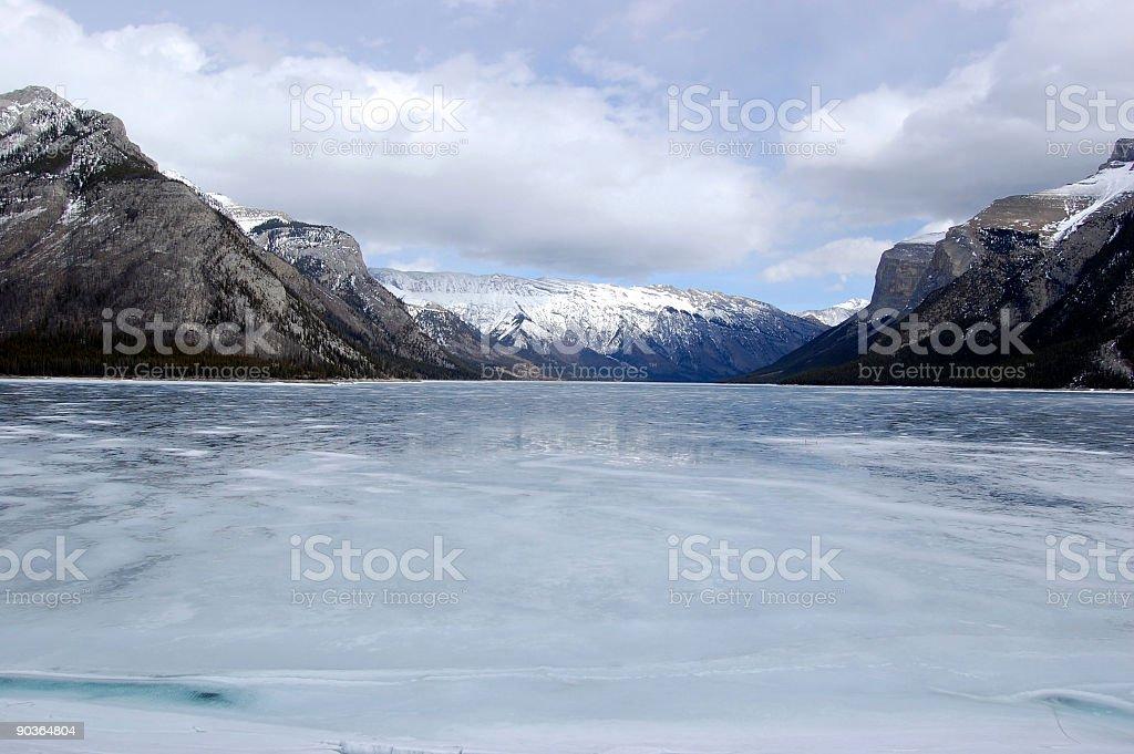 Lake Minnewanka in early spring royalty-free stock photo