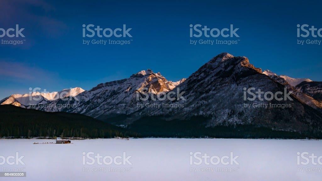 Lake Minnewanka stock photo