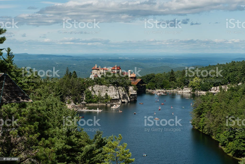 Lake Mohonk in the summer stock photo