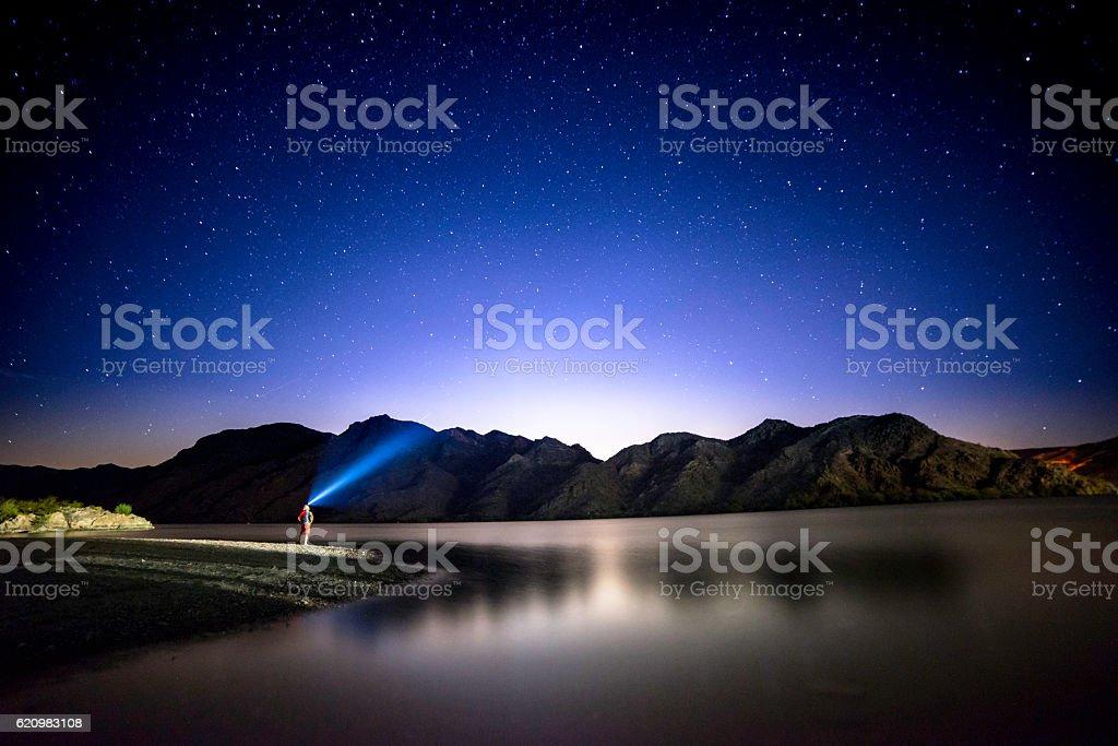 Lake mojave stock photo