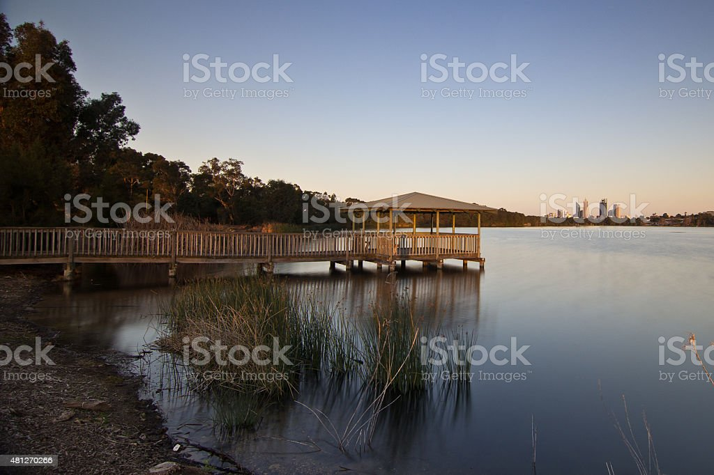 Lake Monger, Perth, Western Australia stock photo