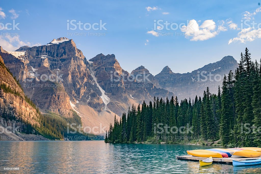 Lake  Moraine, Banff National Park, Alberta, Canada stock photo