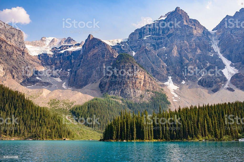 Lake  Moraine, Banff National Park, Alberta, Canada stock photo