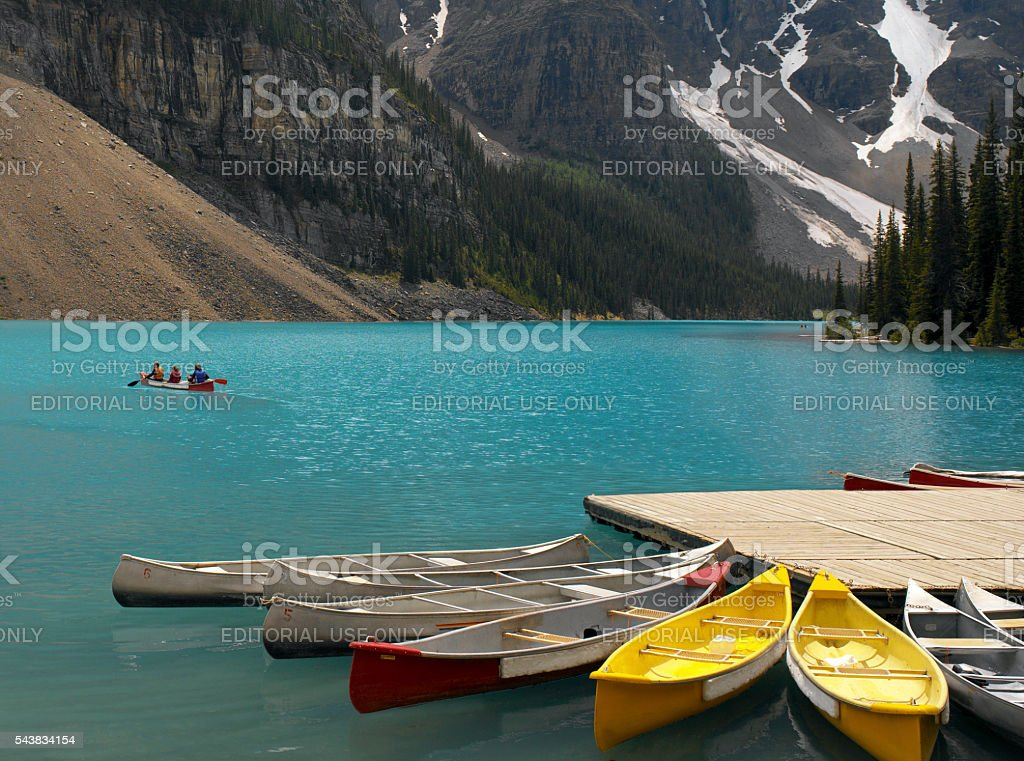 Lake Moraine - Banff National Park - Canada stock photo