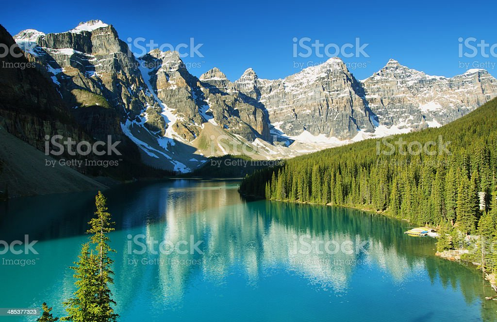 Lake Moraine, Banff national park stock photo