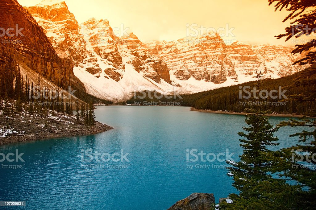Lake Moraine stock photo