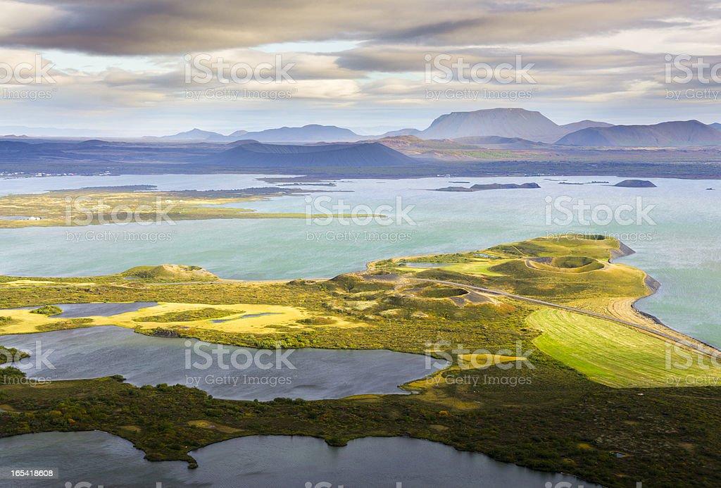 lake myvatn, iceland stock photo