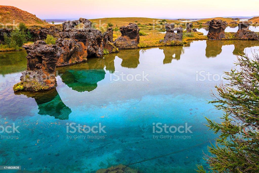 Lake Myvatn stock photo