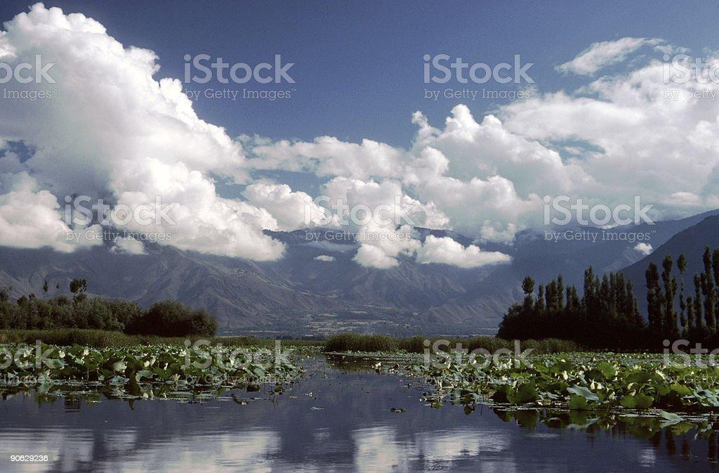Lake Nagin, Kashmir stock photo
