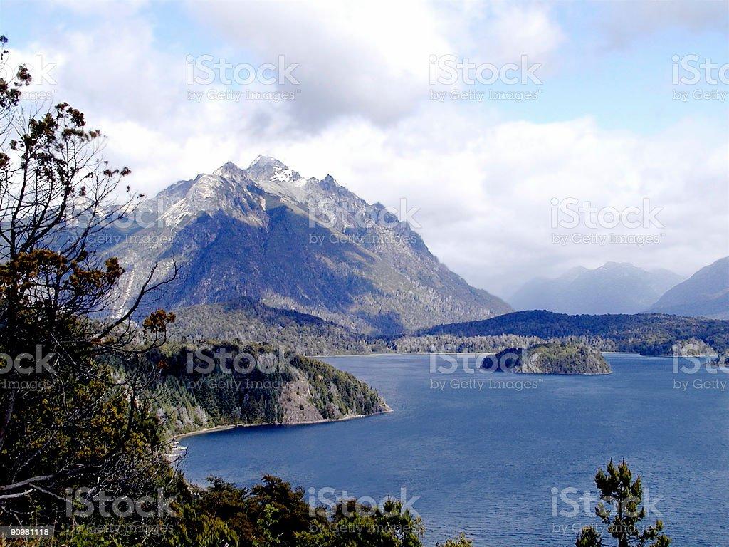 Lake Nahauel Huapi View royalty-free stock photo