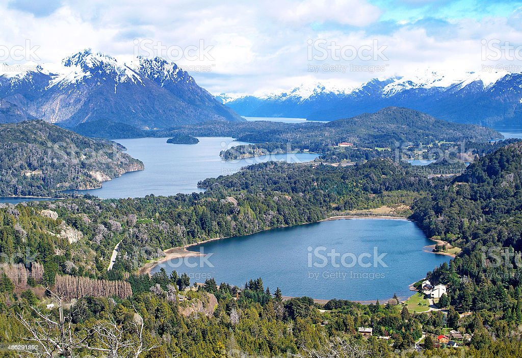 Lake Nahuel Huapi, Argentina (from Cerro Campanario) stock photo
