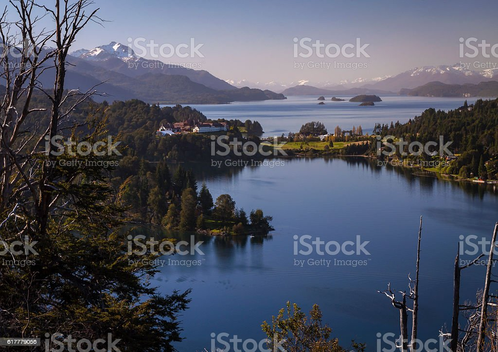 lake Nahuel Huapi lago stock photo