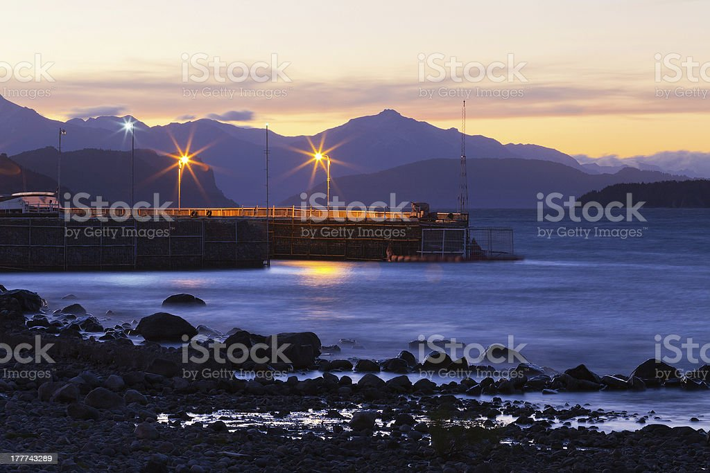 Lake Nahuel Huapi, Patagonia, Argentina royalty-free stock photo