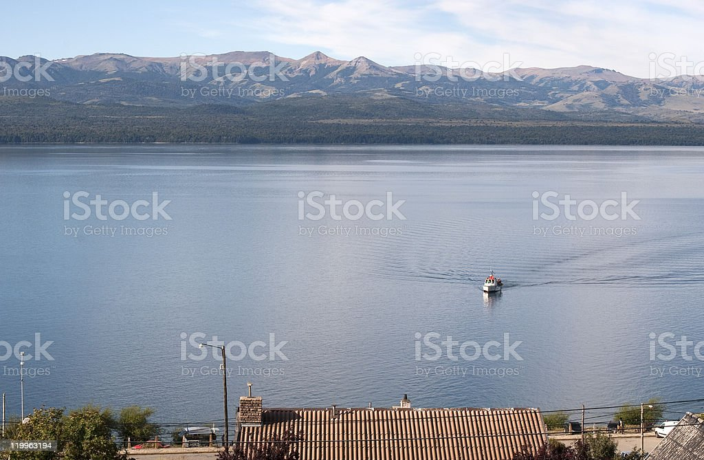Lake Nahuel Huapi royalty-free stock photo