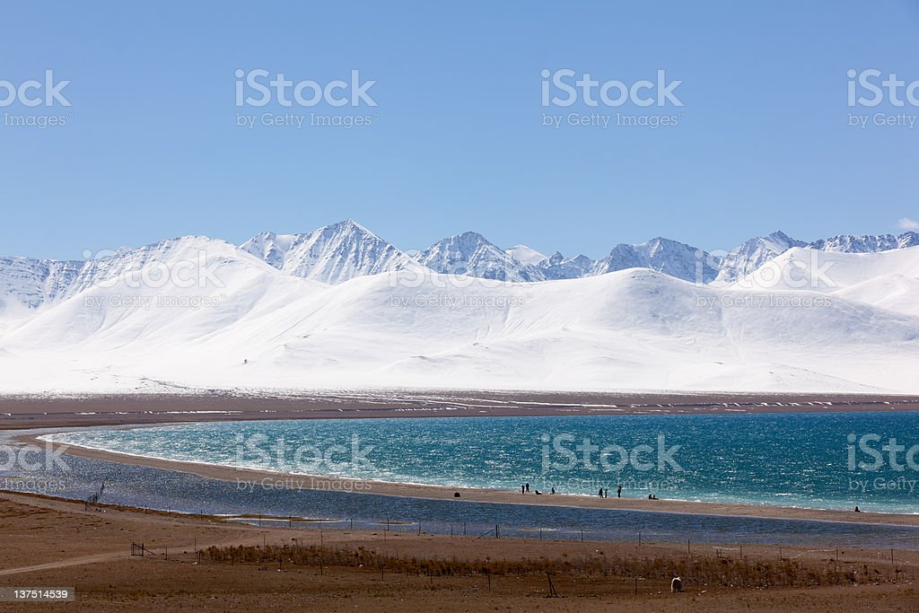 Lake Namtso in Tibet stock photo