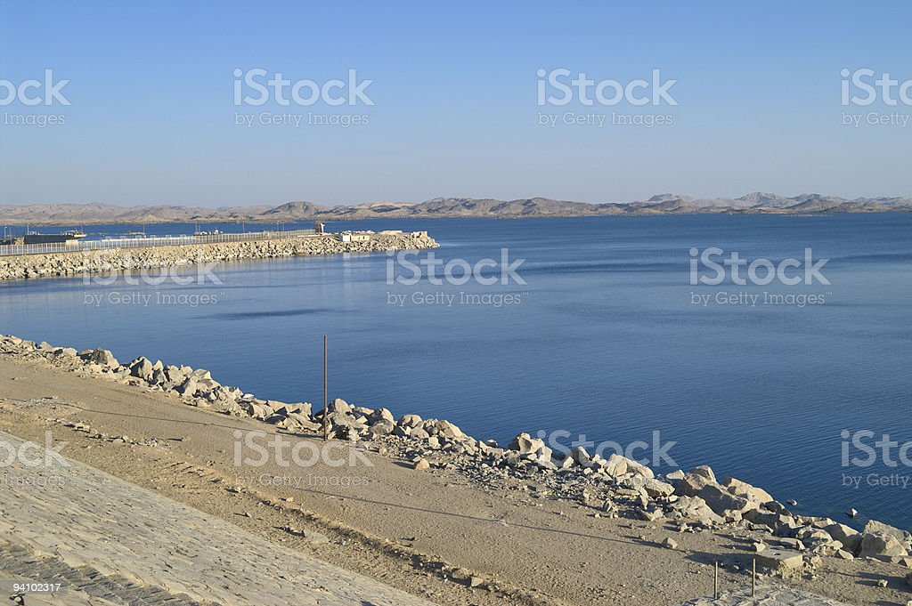 Lake Nasser,  Aswan Dam, Egypt stock photo