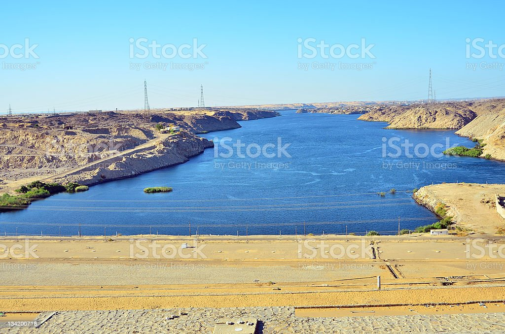 Lake Nasser in Egypt stock photo