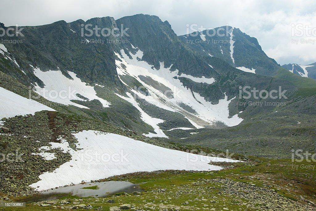 lake near mountains royalty-free stock photo