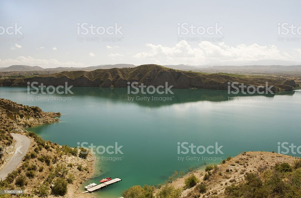Lake Negratin, Sierra De Baza, Spain stock photo