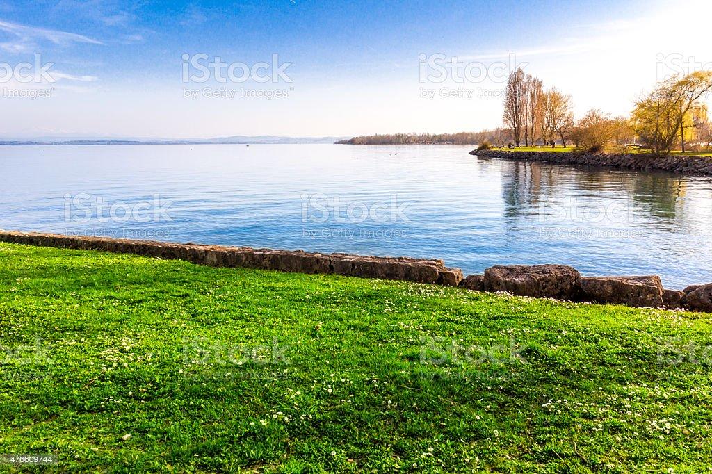 Lake Neuchatel stock photo