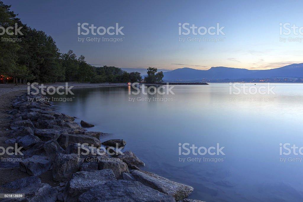 Lake Neuchatel, Switzerland stock photo
