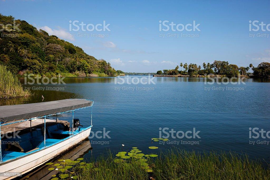 Lake Nicaragua stock photo