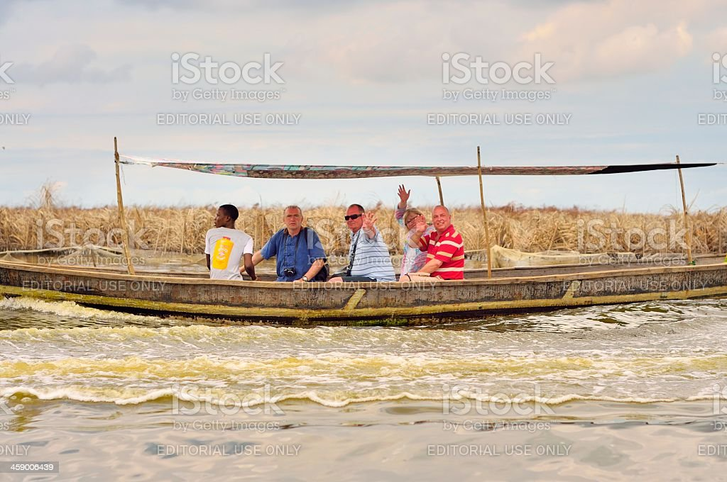 Lake Nokoue Tourist royalty-free stock photo