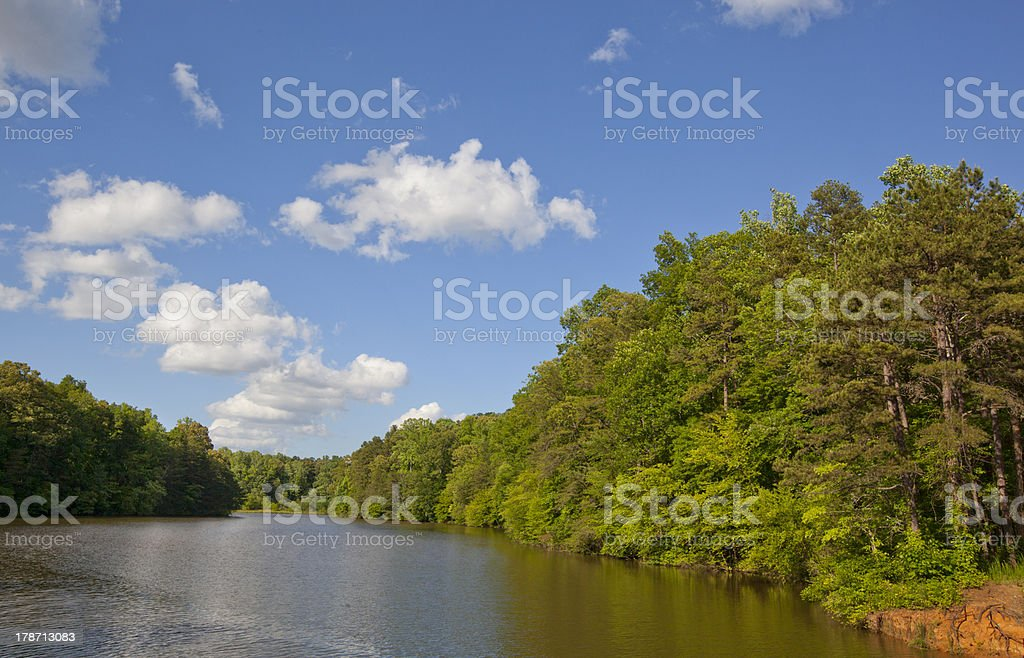 Lake Norman Cove stock photo