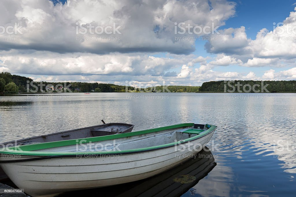 Lake Oberpfuhlsee in the eastern part of Germany, Europe stock photo