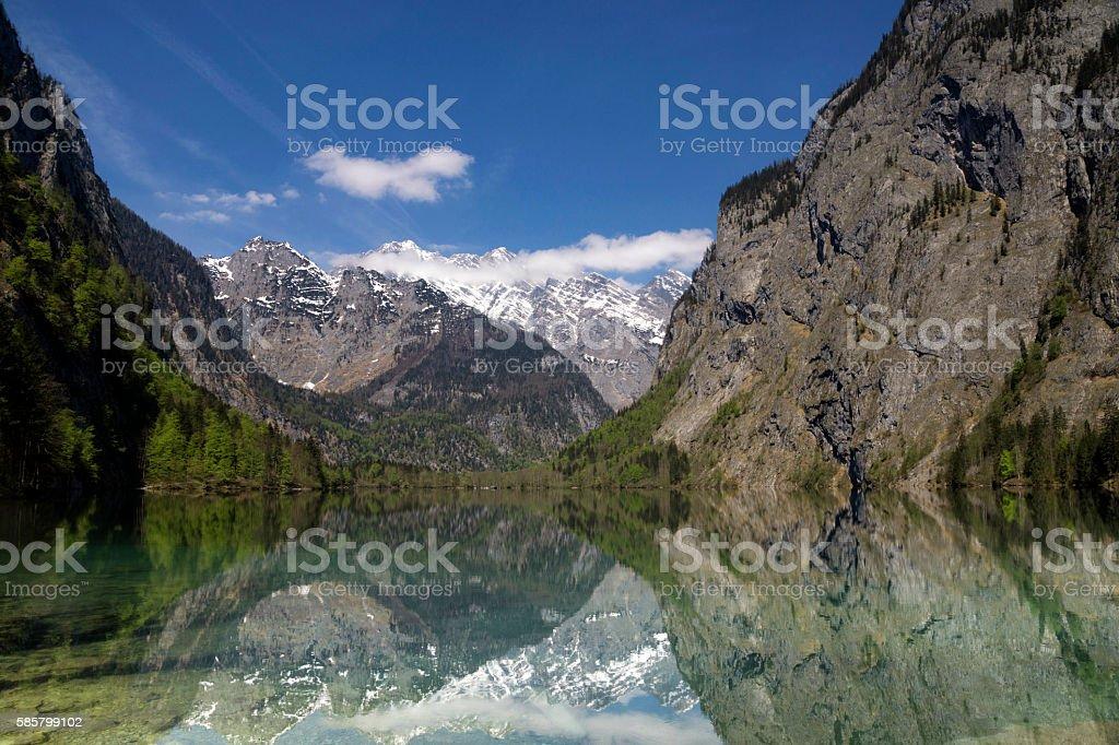 Lake Obersee near Berchtesgaden stock photo