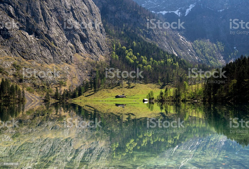 Lake Obersee stock photo