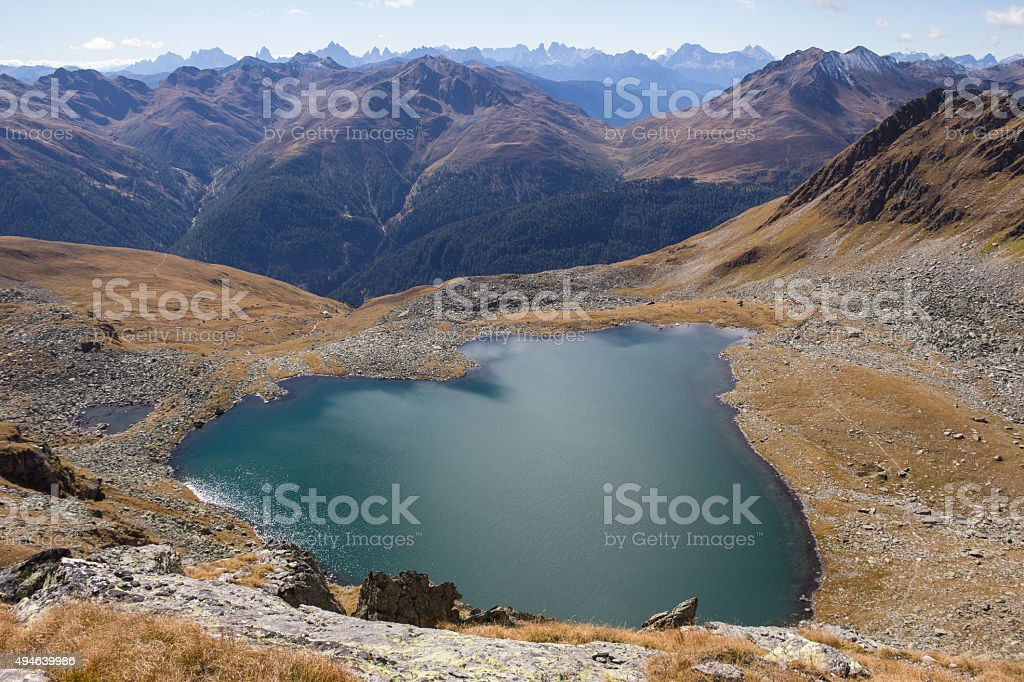 Lake Oberseitsee 2.576m At Mt. Seespitze 3.021m St. Jakob Defereggental stock photo