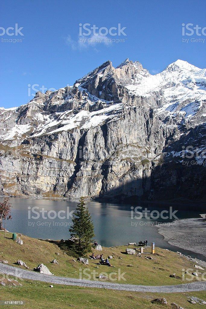 Lake Oeschinensee stock photo