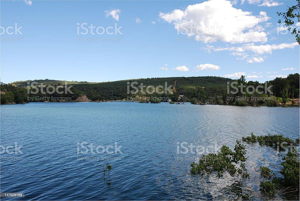 Lake of Carces royalty-free stock photo