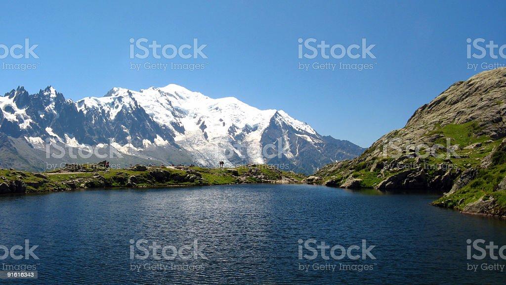 Lake of Cheserys stock photo