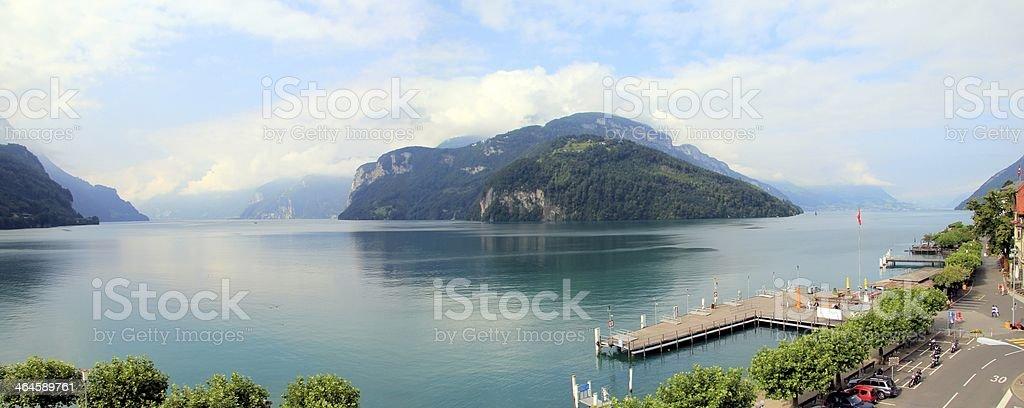 Lake of Four Cantons, Switzerland stock photo