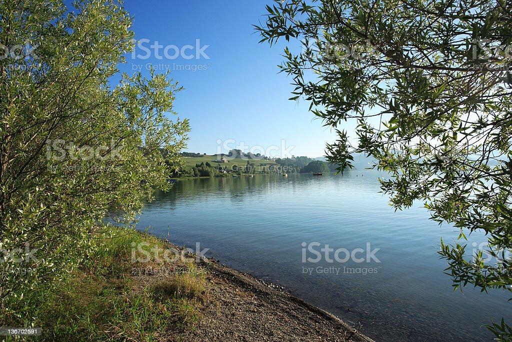 Lake of Gruyere stock photo