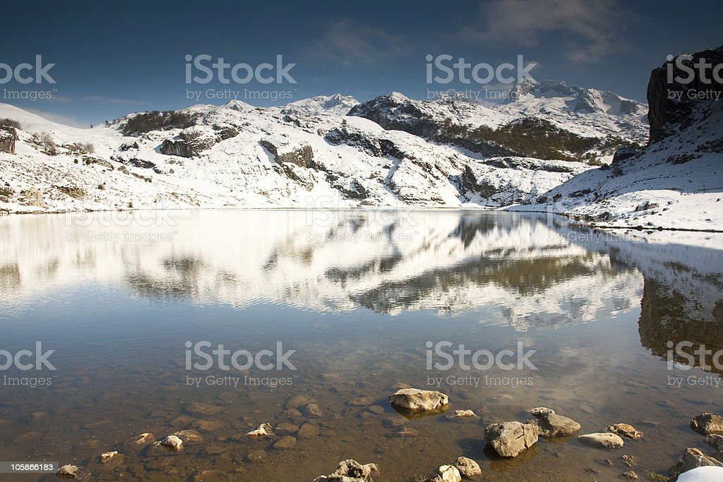 Lake of la Ercina royalty-free stock photo